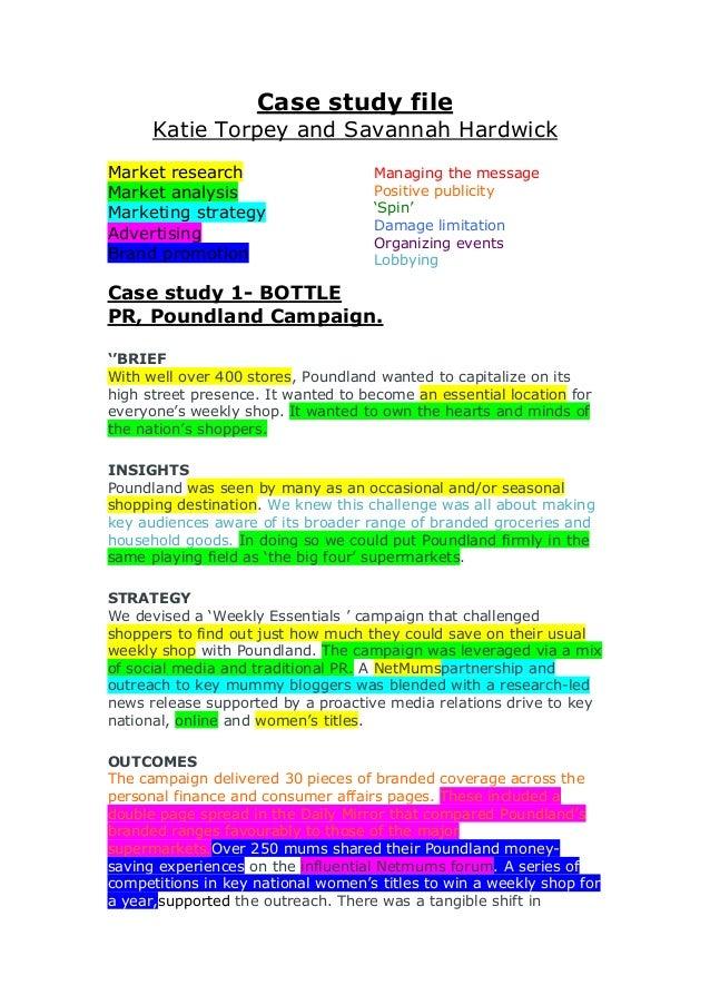 Case study file Katie Torpey and Savannah Hardwick Market research Market analysis Marketing strategy Advertising Brand pr...