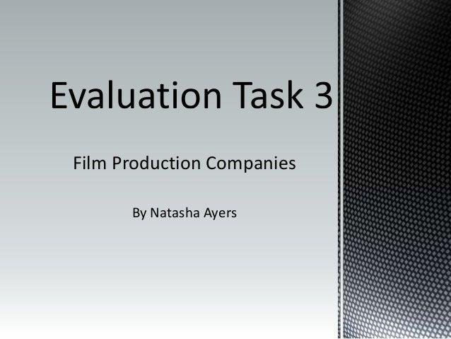 Film Production Companies By Natasha Ayers