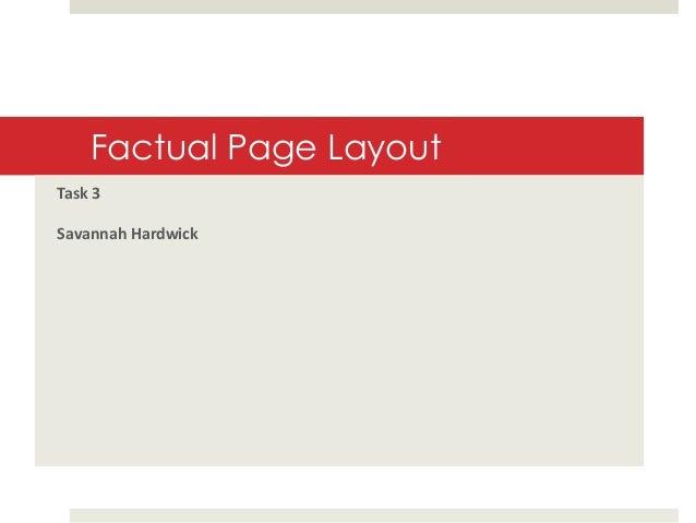 Factual Page Layout Task 3 Savannah Hardwick