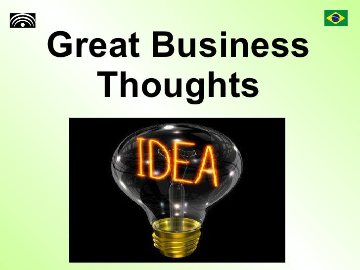 Great Business Thoughts