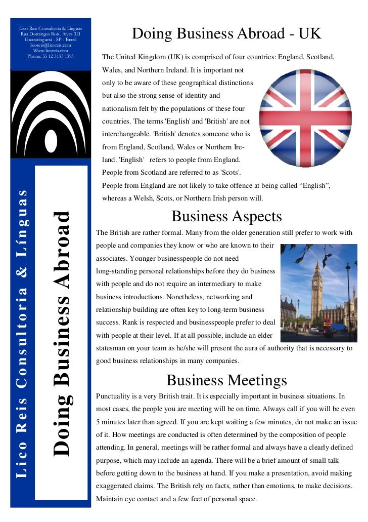 Doing Business Abroad - The United Kingdom