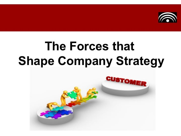 The Forces that  Shape Company Strategy