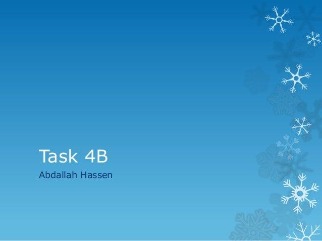Task 4B Abdallah Hassen