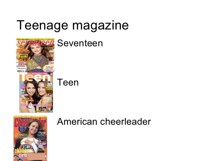 Teenage magazine Seventeen Teen American cheerleader
