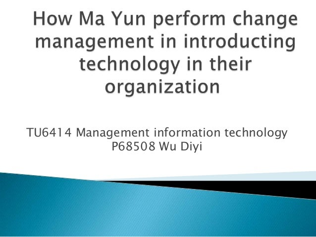 TU6414 Management information technology P68508 Wu Diyi
