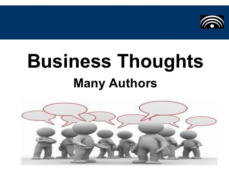 Business Thoughts    Many Authors