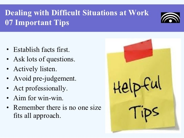 10 dealing with difficult situations