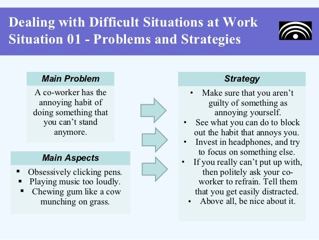11 dealing with difficult situations