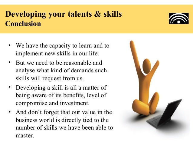 how to develop talents and skills