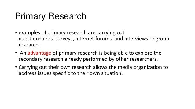 Student Research Topics