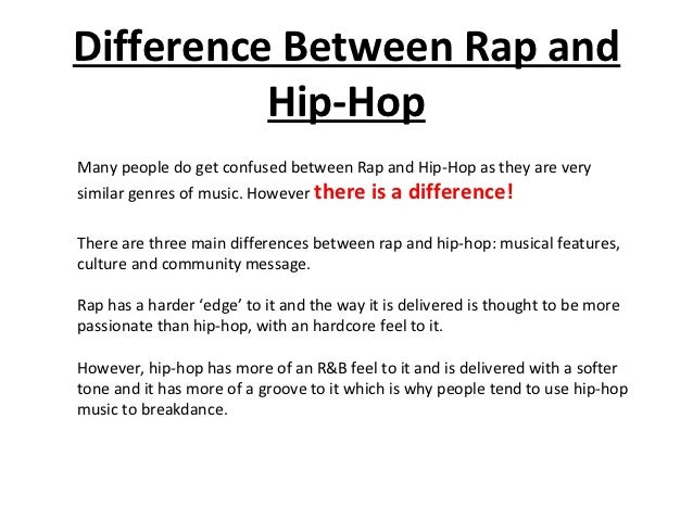 difference between rap and hip hop