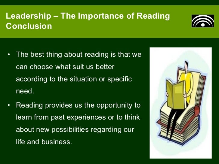 on the importance of reading Reading to young children: a head-start in life the research sets out to explore the connections between parents reading to their young children and their child's.