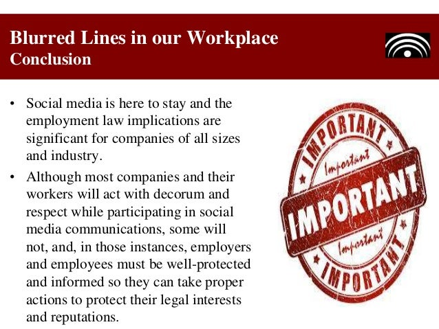 Social Media - Blurred Lines in our Workplace