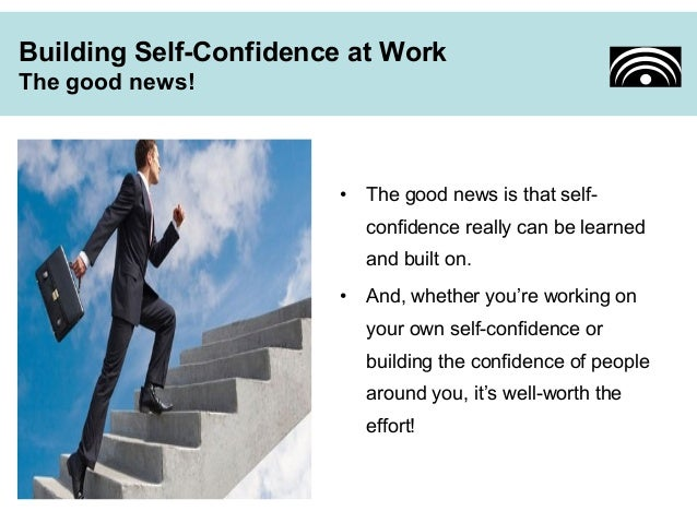 How to gain self confidence at work