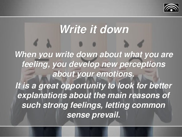 how to write your emotions