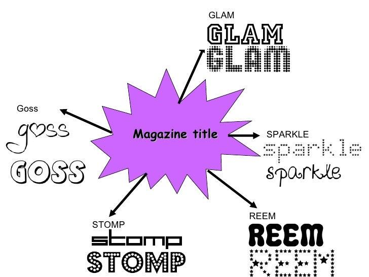 GLAMGoss               Magazine title       SPARKLE                                  REEM       STOMP
