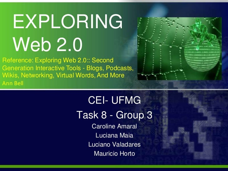 EXPLORING              Web 2.0<br />Reference: Exploring Web 2.0:: Second Generation Interactive Tools - Blogs, Podcasts, ...