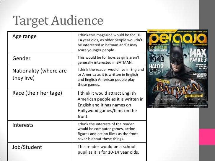 task target audience magazines new