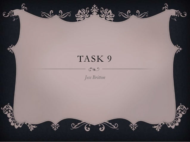 TASK 9 Jess Britton