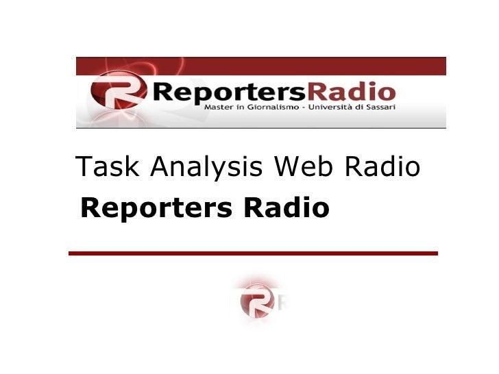 Task Analysis Web Radio Reporters Radio