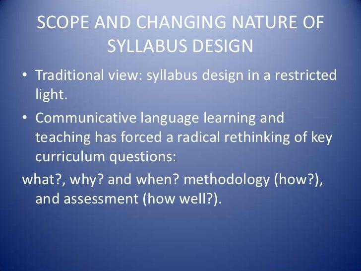 Task Based Syllabus Design