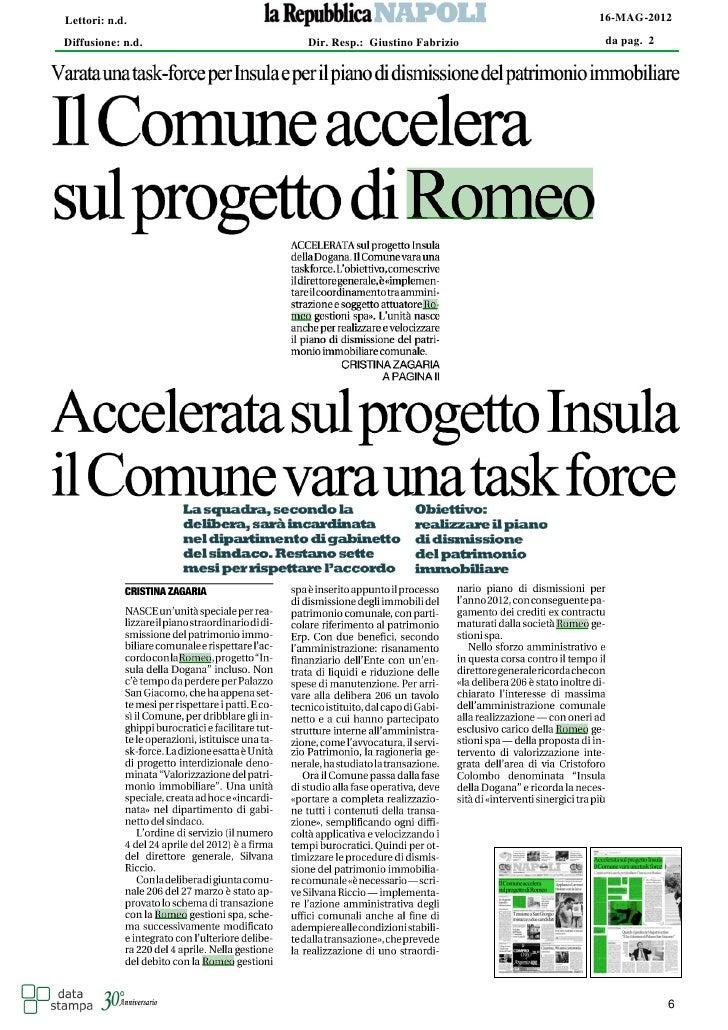 Lettori: n.d.                                      16-MAG-2012Diffusione: n.d.   Dir. Resp.: Giustino Fabrizio   da pag. 2...