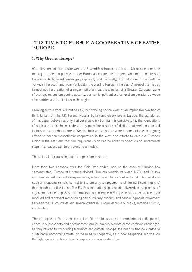 Sample Position Paper 1