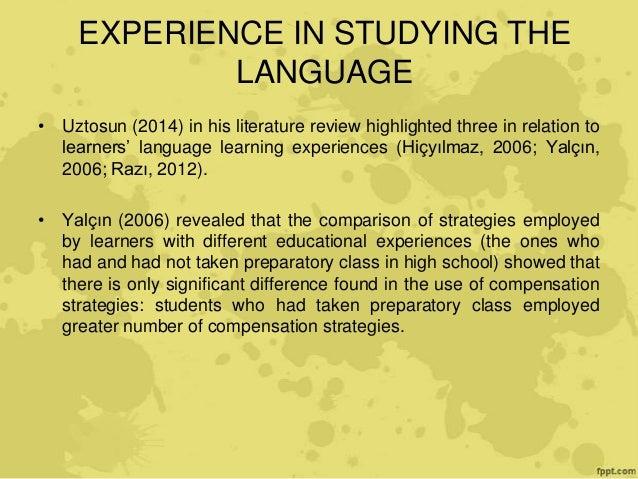 literature review of motivation in second language learning Motivational strategies: students' and teachers  literature review  motivation is demonstrated to be one of the main determinants of second language learning.