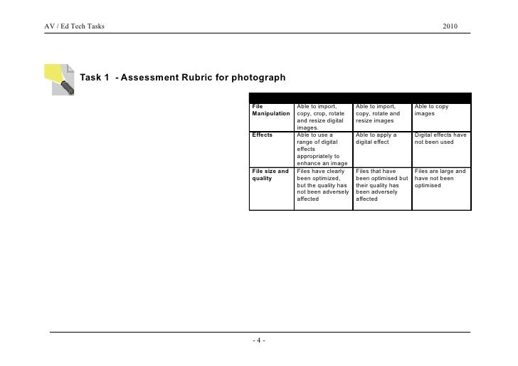 Portfolio Task Outlines