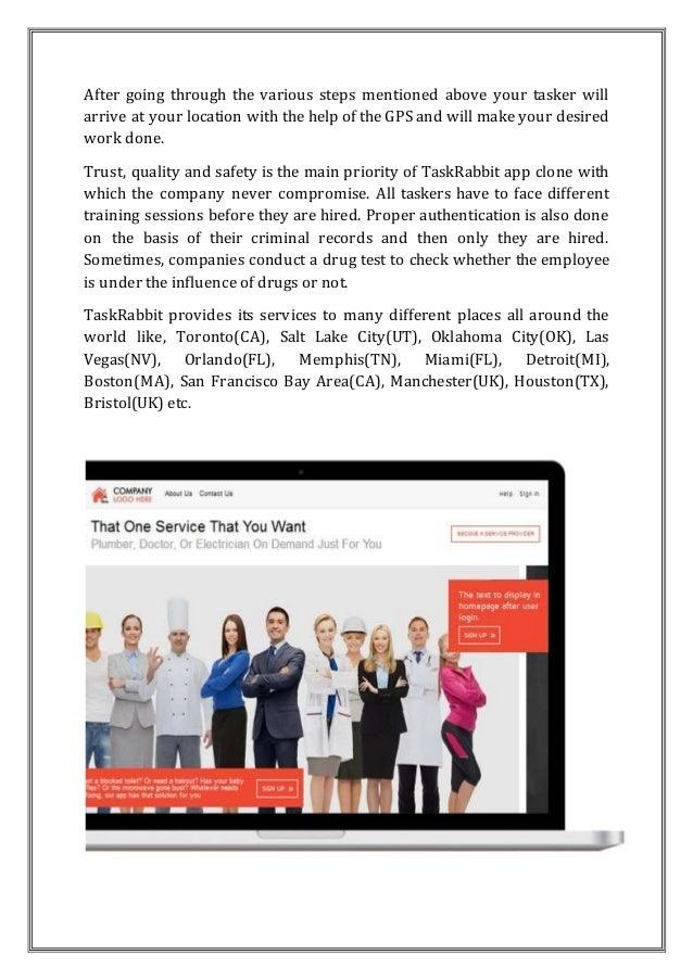 Taskrabbit clone on demand services Slide 2
