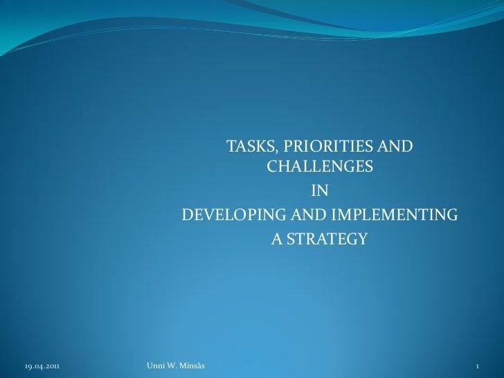 TASKS, PRIORITIES AND                             CHALLENGES                                   IN                     DEVE...