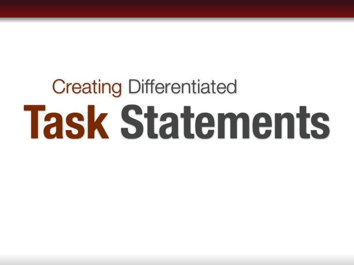 Creating DifferentiatedTask Statements