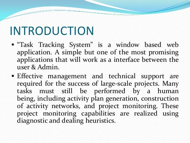 task tracking system