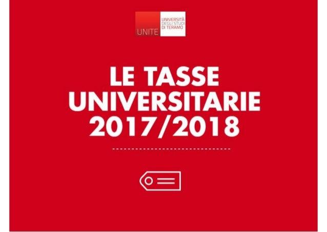 Novità tasse università di Teramo 2017/2018