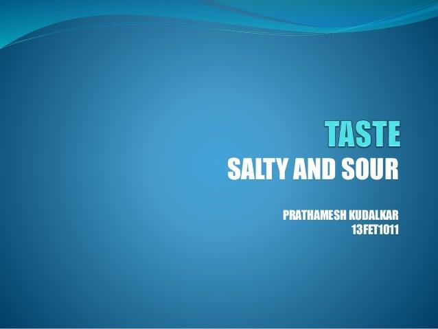 SALTY AND SOUR PRATHAMESH KUDALKAR 13FET1011