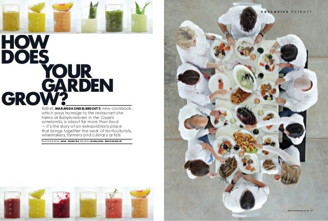 E x c l u s i v E   e x t r a c thowdoEs   your   gardEngrow?   Babel, Maranda EngElbrEchts new cookbook,   which pays hom...