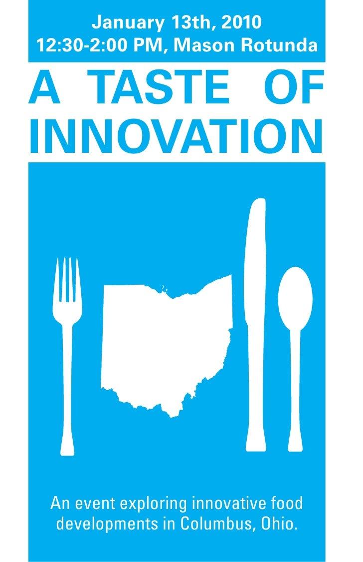Taste of Innovation Program