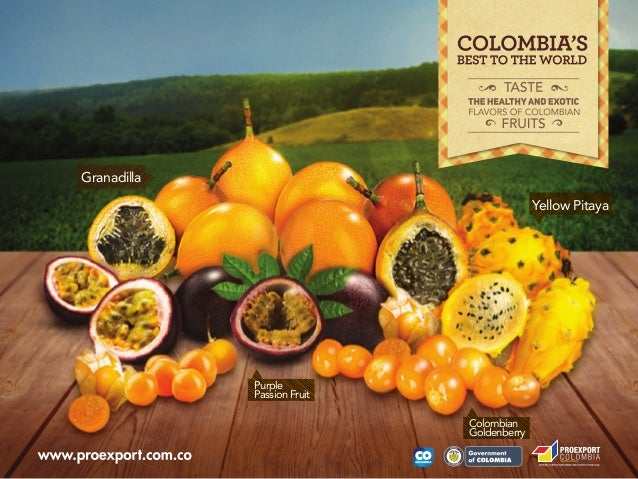 Taste the healthy and exotic flavor of colombian fruits