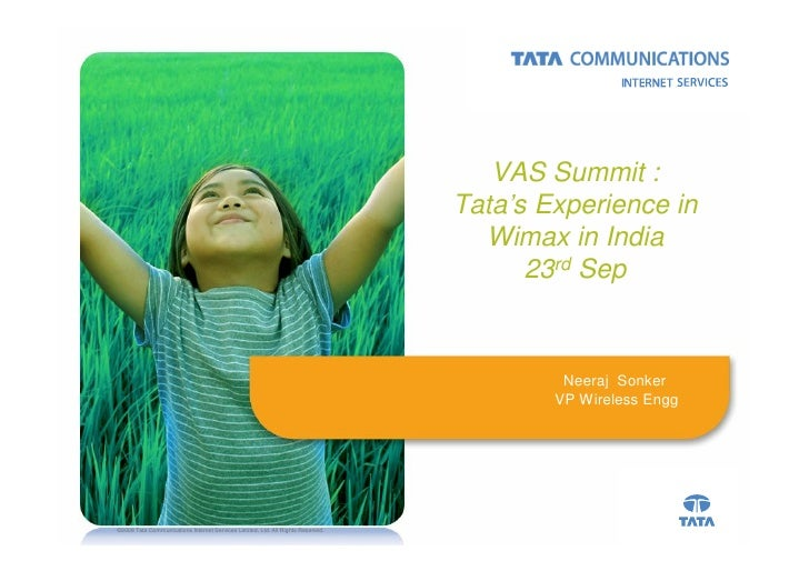 VAS Summit :                                                                                  Tata's Experience in        ...