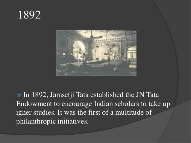 1903  In 1903, under Jamshetji Tata the most dazzling of Tata group, Taj Mahal Hotel was build in Bombay.