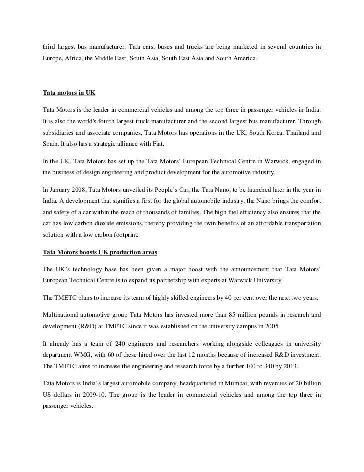 tata international business mgt 24 third