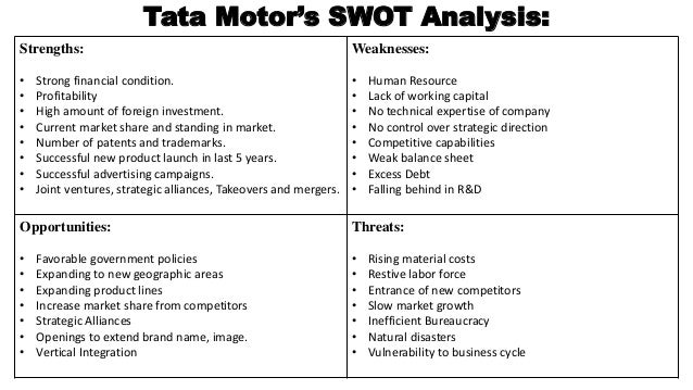 swot and a pest analysis of tata motors This comprehensive swot profile of tata motors limited provides you an in-depth strategic swot analysis of the company's businesses and operations.