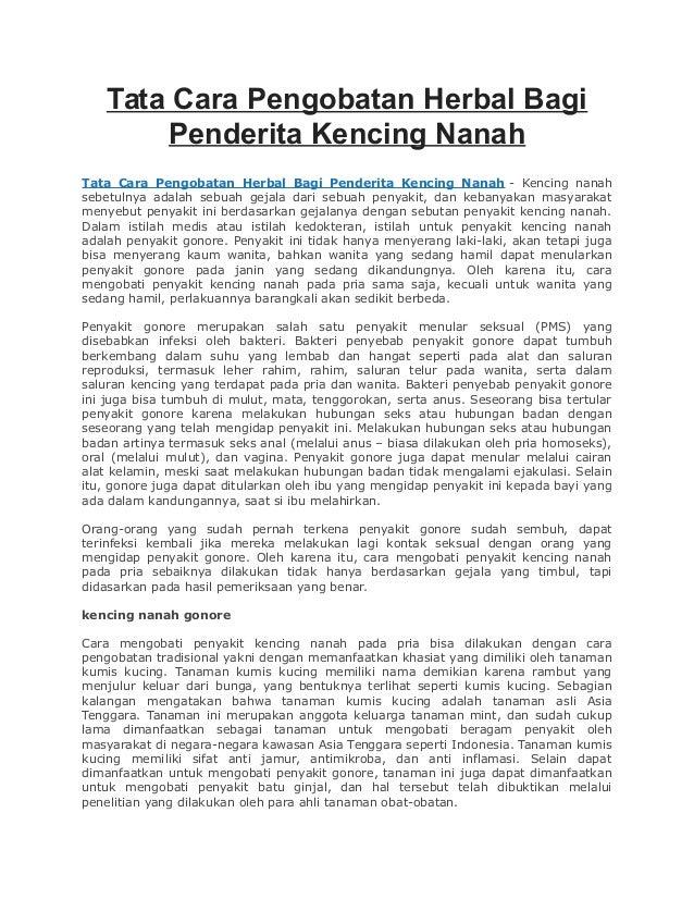 Tata Cara Pengobatan Herbal Bagi Penderita Kencing Nanah Tata Cara Pengobatan Herbal Bagi Penderita Kencing Nanah - Kencin...