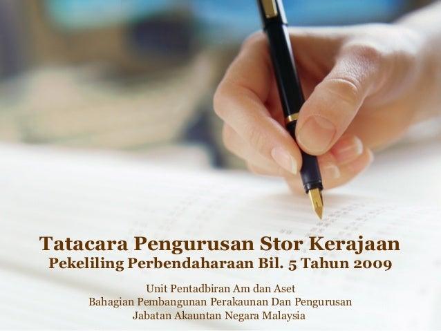 Tatacara Pengurusan Stor