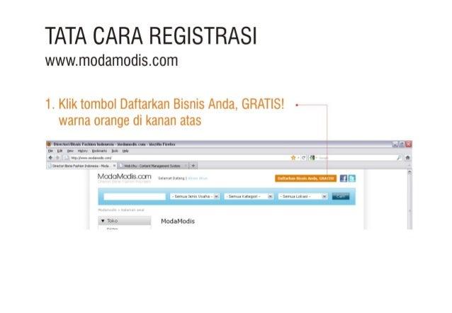 Tata Cara Registrasi ~ Modamodis.com