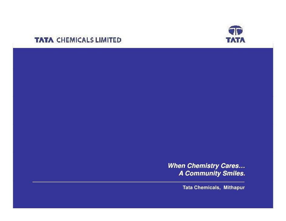>Avisek Das     When Chemistry Cares…   A Community Smiles.      Tata Chemicals, Mithapur                                 ...