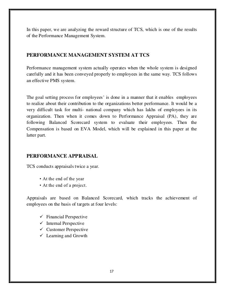 performance management at tcs case study