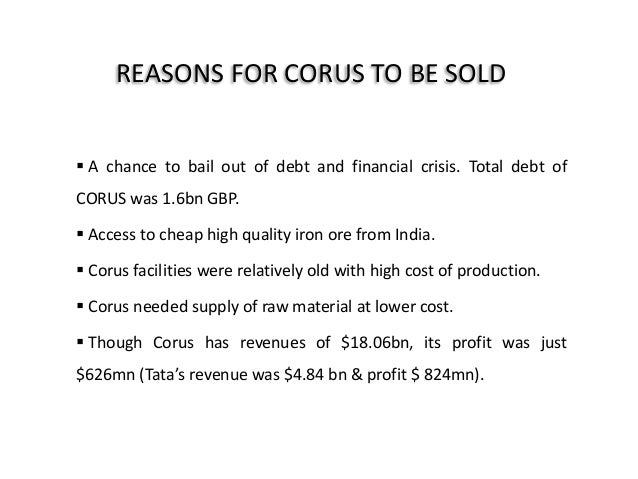 structuring the deal tata and corus Tata steel group executive director koushik chatterjee on the criticality of the tata steel-thyssenkrupp deal in corus—a company four times structure in a.