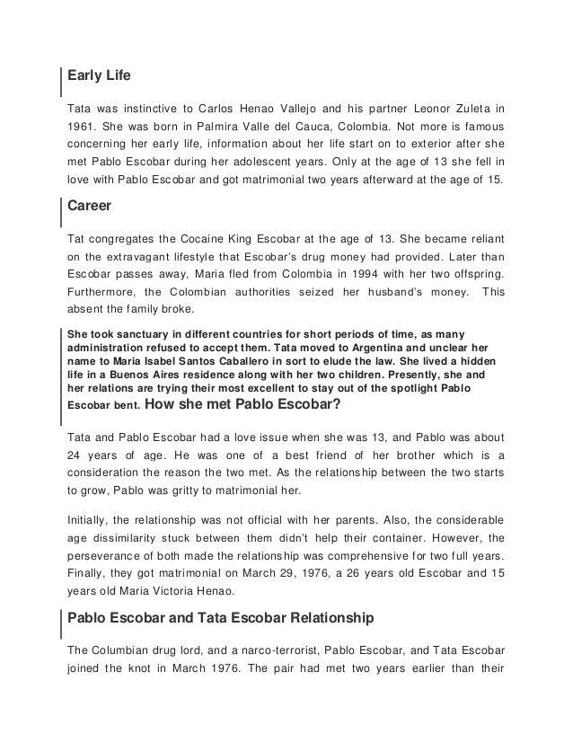 Pablo Emilio Escobar Gaviria Essay Sample