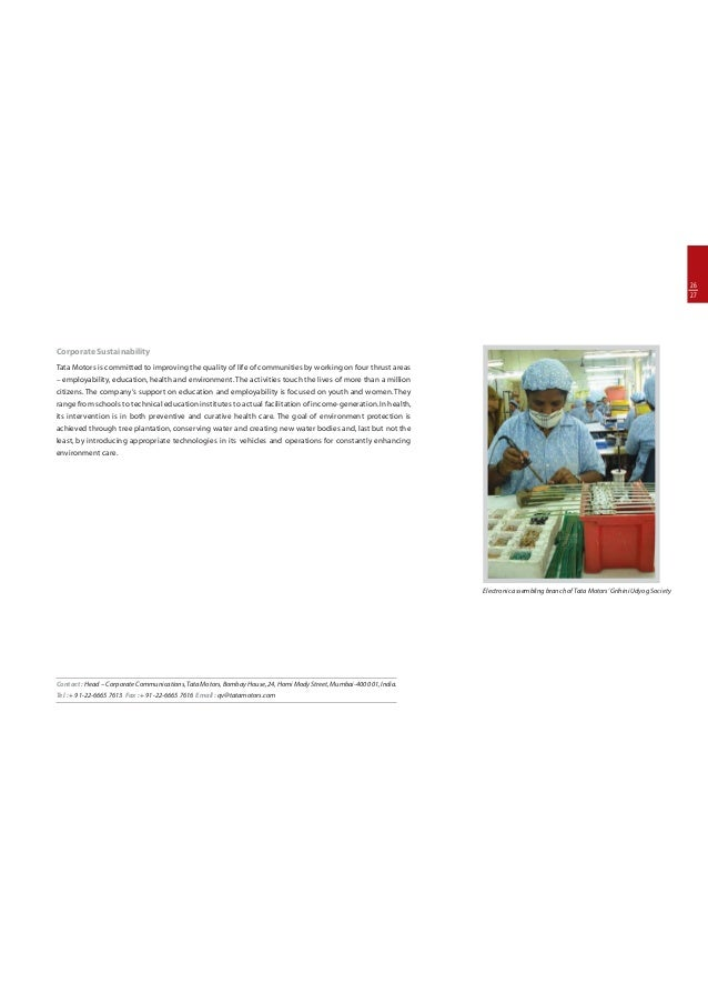 Operations Management at Tata Motors